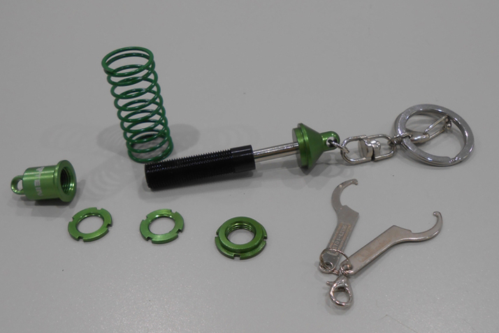 DAMPER KEY CHAIN (GREEN/BLACK)