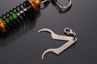 DAMPER KEY CHAIN (GOLD/GREEN) picture2