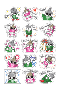 DAMPACHI AND DAMPATTY STICKER SHEET